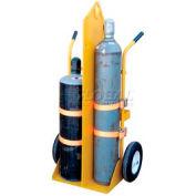 Vestil Welding Cylinder Cart CYL-EH-FF Foam Filled Wheels 22-13/16 x 34-1/4 x 66-3/8