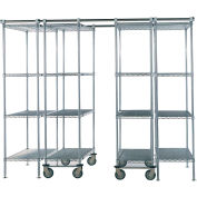 "Space-Trac 6 Unit Storage Shelving Chrome 48""W x 18""W x 74""H - 12 ft."