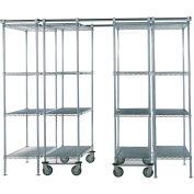 "Space-Trac 4 Unit Storage Shelving Chrome 36""W x 24""D x 86""H - 12 ft."