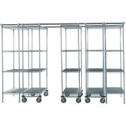 "Space-Trac 5 Unit Storage Shelving Chrome 48""W x 21""D x74""H - 12 ft."