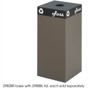 Safco® Public Square® Steel Recycling Container, 31 Gallon Brown - 2982BR