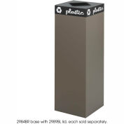 Public Square® Steel Recycling Container - 42 Gallon Brown