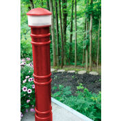 "Metro Decorative Bollard Cover with 110V AC Light Fit Pipe 6"" -6-5/8"" Red"