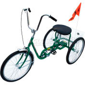 Industrial Tricycle 250 Lb Capacity 3 Speed Coaster Brake Green