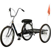 "Mover Tricycle 500lb Capacity 3 Speed Coaster Brake w/ 20"" Wheels Black"