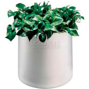 "Plastic Outdoor Planter, 22"" Round White"