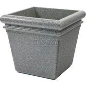"Concrete Stone Tec Outdoor Planter, 19"" Square Ashtone"