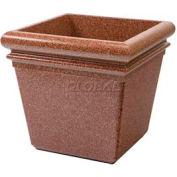 "Concrete Stone Tec Outdoor Planter, 19"" Square Sedona"