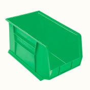 "Akro-Mils AkroBin® Plastic Stacking Bin 30260 - 11""W x 18""D x 10""H, Green - Pkg Qty 6"