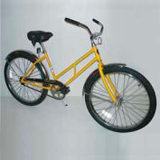 "Industrial Bicycle 300 lb Capacity 17-1/2"" Frame Unisex Yellow"