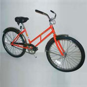 "Industrial Bicycle 300 lb Capacity 17-1/2"" Frame Unisex Orange"