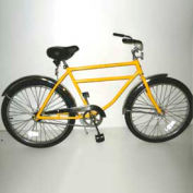 "Heavy Duty Industrial Bicycle 300 lb Capacity 20"" Frame Men Yellow"