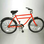 "Heavy Duty Industrial Bicycle 300 lb Capacity 20"" Frame Men Orange"