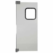 Chase Doors Light to Medium Duty Service Door Single Panel Gray 3' x 7' 3684NWS-MG