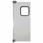 Chase Doors Light to Medium Duty Service Door Single Panel Gray 3' x 7' 3684NWS-MG