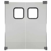 Chase Doors Light to Medium Duty Service Door Double Panel Gray 4' x 7' 4884NWD-MG
