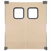 Chase Doors Light to Medium Duty Service Door Double Panel Beige 6' x 8' 7296NWD-BG
