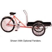 "Front-Loader Tricycle 500 Lb Capacity w/Platform 37"" Axle Orange"