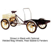 Front-Loader Quadricycle 500 Lb Capacity w/Front and Rear Platform Black