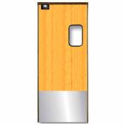 Chase Doors Medium Duty Service Door Single Panel Light Wood 3' x 7' with Kickplate 3684SC
