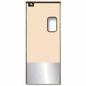 Chase Doors Medium Duty Service Door Single Panel Beige 3' x 7' with Kickplate 3684SC