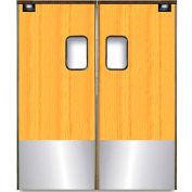 Chase Doors Medium Duty Service Door Double Panel Light Wood 5' x 7' with Kickplate 6084SC