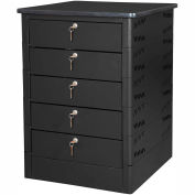 Datum TekStak Laptop Storage Charging Locker, 5-Tier, Key Lock, Laminate Top, Series TEKSE5-K