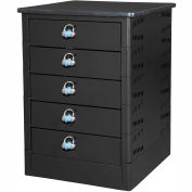 Datum TekStak Laptop Storage Charging Locker 5 Tier Hasp Lock Laminate Top, Series TEKSE5-H