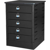 Datum TekStak Laptop Storage Locker 5 Tier Hasp Lock Laminate Top, Series TEKS5-H