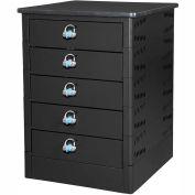 Datum TekStak Laptop Storage Locker 5 Tier Hasp Lock Laminate Top, Series TEKS5-H