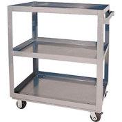 Vestil Aluminum Three Shelf Service Cart SCA3-2236 36 x 22 660 Lb. Capacity