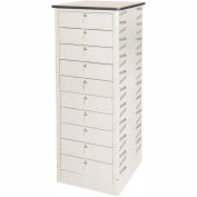 Datum TekStak Laptop Storage Locker 10 Tier Key Lock Laminate Top, Series TEKS10-K