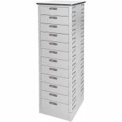 Datum TekStak Laptop Storage Locker 12 Tier Electronic Lock Laminate Top, Series TEKS12-C