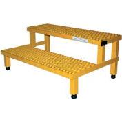 """Vestil ASP-48 Adjustable Height Step Stand, Carbon Steel 48""""W x 24""""L"""