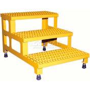 """Vestil ASP-24-3 Adjustable Height Step Stand, Carbon Steel 24""""W x 36""""L"""