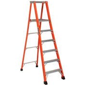 Louisville 12' Fiberglass Platform Step Ladder - 375 Lb. Cap. - FP1412-HD