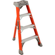 Louisville 4' Type 1A Fiberglass Tripod Ladder, 300 Lb. Cap. - FT1504