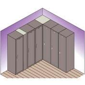 "Lyon Flat Top Corner Filler For Locker DD5901 - 15""Wx15""D - Gray"