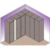 "Lyon Expansion Filler For Locker w/ Legs PP5910 - 13-1/2""Wx66""H - Putty"