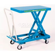 Bishamon® MobiLift™ Scissor Lift Table BX-25 660 Lb. Capacity