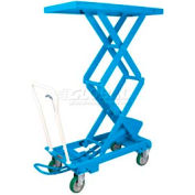 "Bishamon® MobiLift™ Double Scissor Lift Table BX-50W 1100 Lb. Capacity 62.1"" Lift"