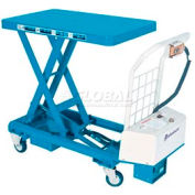 Bishamon® MobiLift™ Battery Powered Scissor Lift Table BX-50B 1100 Lb. Capacity