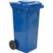 Mobile Trash Can - 32 Gallon Blue - TH-32-BLU