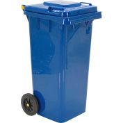 Mobile Trash Can - 32 Gallon Blue