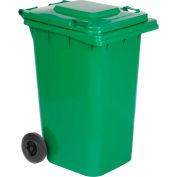Vestil Mobile Trash Can TH-64-GRN - 64 Gallon Green