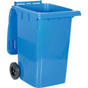 Mobile Trash Can - 95 Gallon Blue