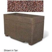 "Concrete Outdoor Planter w/Forklift Knockouts, 48""Lx24""Wx30""H Rectangle Red Quartzite"