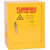 Eagle Compact Flammable Cabinet - Manual Close Door 4 Gallon