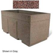 "Concrete Outdoor Planter w/Forklift Knockouts, 72""Lx36""W x 36""H Rectangle Red Quartzite"