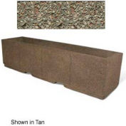 "Concrete Outdoor Planter w/Forklift Knockouts, 96""Lx24""W x 24""H Rectangle Gray Limestone"